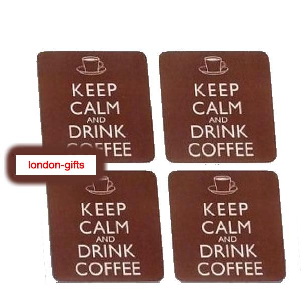 London Gifts Keep Calm Drink Coffee Coaster