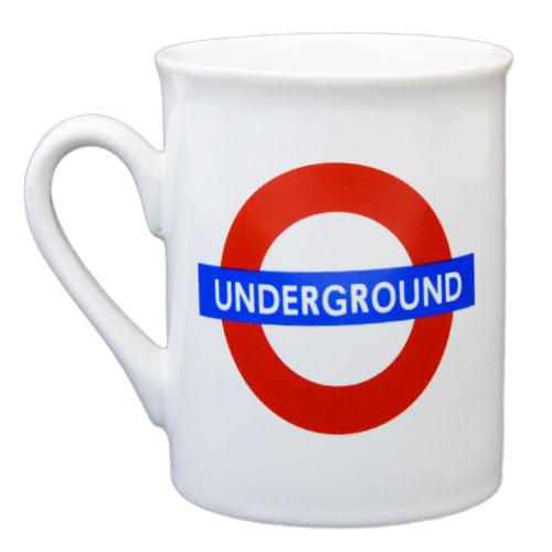 London Gifts Mugs Underground White